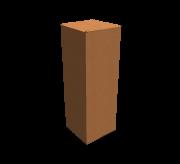 "Regular Slotted Box  - 3.5"" x 3.5"" x 10.5"""