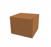 Regular Slotted Box - 5 x 5 x 3.5 (Standard , Kraft)