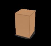 Regular Slotted Box - 5x5x8 - Strong, Kraft (3ply)