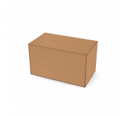 Regular Slotted Box  - 7 x 4 x 4 (standard, Kraft)