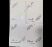 Metallic Printed Thank You Stcikers (4x6) - 25 Sheet x 4 = 100 Stickers (Blue)