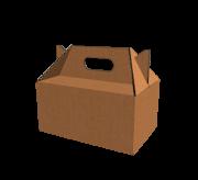 Handle Box with Auto lock Bottom - 4 x 4 x 4.5