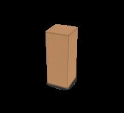 Regular Slotted Box  - 3 x 3 x 7.6 inch
