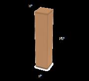 "Regular Slotted Box  - 3"" x 3"" x 14"""