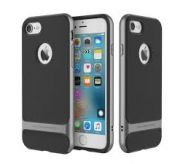 Rock Back Cover for Apple iPhone 7  (Black)