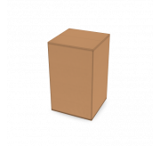 Regular Slotted Box  - 6 x 6 x 10-(Standard kraft)