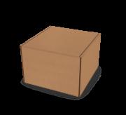 Folding Type Box  - 3 x 3 x 2- Strong Kraft