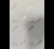 Metallic Printed Thank You Stcikers (4x6) - 25 Sheet x 4 = 100 Stickers (Golden)