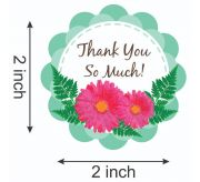 Thank You Stickers Round 2 inches Self Adhesive Sticker Paper (set of 50)