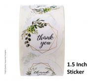 Thank you Sticker - 1.5 Inch (500 Pcs Roll)